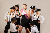 Ideas for hen party: find the garter — Stock Photo