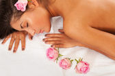 Spa and roses — Stock Photo