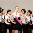Stock Photo: Ideas for hen party: take your friends with you