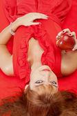 Red seduction — Stock Photo