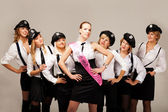 Ideas for hen party: take your friends with you — Stock Photo