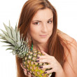Stock Photo: Pineapple summer