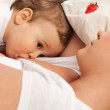 Breast feeding — Stock Photo