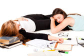 Tired of studing — Stock Photo