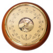 Vintage aneroid barometr - Stock Photo