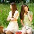 Conflict on picnic — Stock Photo