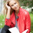 Young woman with book — Stock Photo #32201061