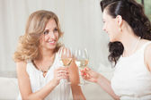Celebration with wine — Stock Photo