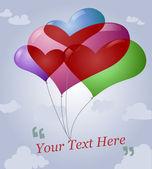 Milující srdce balónek — Stock vektor