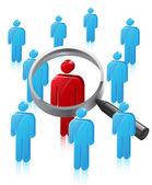 Stick Man Person Search — Stock Vector