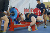 Competitions on powerlifting — Stock Photo