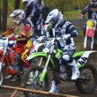 Competitions on the cross-country motorcycle race - Stock Photo
