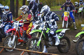 Competitions on the cross-country motorcycle race — Stok fotoğraf