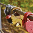 Padlock on bridge - Stock Photo