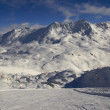 Ski resort France Espace Killy — Stock Photo