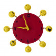 Stock Photo: Toy red clock.