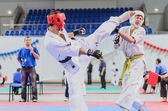 Championship of Moscow region on Kyokushinkai karate. — Stock Photo