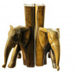 Wooden figure of an elephant. — Stock Photo