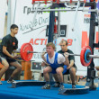 Championship of Russia on powerlifting in Moscow. — 图库照片