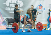 Championship of Russia on powerlifting in Moscow. — ストック写真