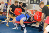 Championship of Russia on powerlifting in Moscow. — Zdjęcie stockowe