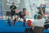 Kampioenschap van rusland op powerlifting in moskou. — Stockfoto