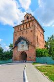 Architecture of the Kolomna Kremlin, Spasskie Vorota, 1525 year, — Stock Photo