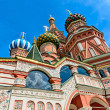 ストック写真: St. Basil's Cathedral on red square in Moscow.