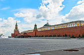 Red square in Moscow on the eve of the celebration of the baptis — Stock Photo