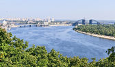 View of the embankment of the Dnieper river in Kiev. — Stok fotoğraf