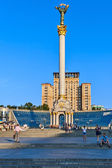 Maidan Nezalezhnosti, the Central square in Kiev, Ukraine. — Stock Photo