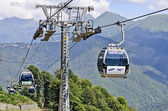 Ski resort Rosa Khutor ahead of the Olympics in 2014. — Stock Photo