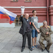 Постер, плакат: Twins Stalin and Lenin on Red Square in Moscow
