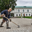 Stock Photo: Joust on territory of monastery.
