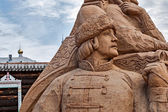 Sand sculptures in Rostov Veliky. — Stock Photo