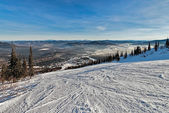 Ski resort Sheregesh, Kemerovo region, Russia. — Stock Photo