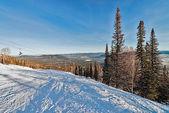 滑雪度假村 sheregesh、 克麦罗沃地区俄罗斯. — 图库照片