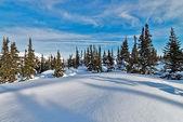 горнолыжный курорт шерегеш, кемеровская область, россия. — Стоковое фото