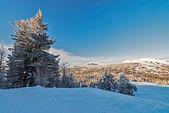 Ski resort Sheregesh, Kemerovo region, Russia. — Stock Photo