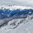 Olympic ski trail Rosa Khutor. — Stock Photo #37735175