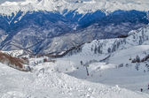 Olympic ski trail Rosa Khutor. — Stock Photo