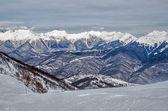 Olympic ski trail Rosa Khutor. — Stock Photo
