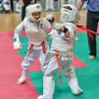 Competition on kyokushinkai karate. — Stock Photo #41548963