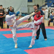 Competition on kyokushinkai karate. — Stock Photo #41549079