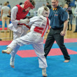 Competition on kyokushinkai karate. — Stock Photo #41549097