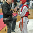 Competition on kyokushinkai karate. — Stock Photo #41549117