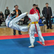 Competition on kyokushinkai karate. — Stock Photo #41549155