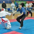 Stock Photo: Competition on kyokushinkai karate.