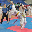 Competition on kyokushinkai karate. — Stock Photo #41549239