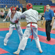 Competition on kyokushinkai karate. — Stock Photo #41549283